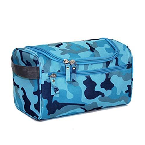 MoGist Trousse de Toilette Sac de Rangement Imperméable Sac de Voyage Maquillage Étanche Tissu Oxford Bleu 26 * 15 * 16cm