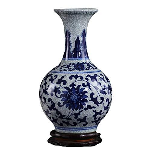 N Vase Couchtisch Vase Keramik Antike blaue und weiße Porzellan-Vase Dekoration Wohnzimmer-Dekoration Chinese Retro Home Furnishings Porzellan Flasche Vasen Dekoration (Ausgabe: Keine Base) lalay