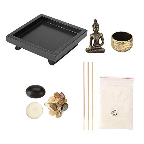 YD50 Tablero Buda Zen Jardín Bronce Vintage Incienso Quemador de incienso Quemador de incienso...