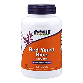 NOW Supplements Red Yeast Rice  Monascus purpureus  1200 mg Nutritional Support 120 Tablets