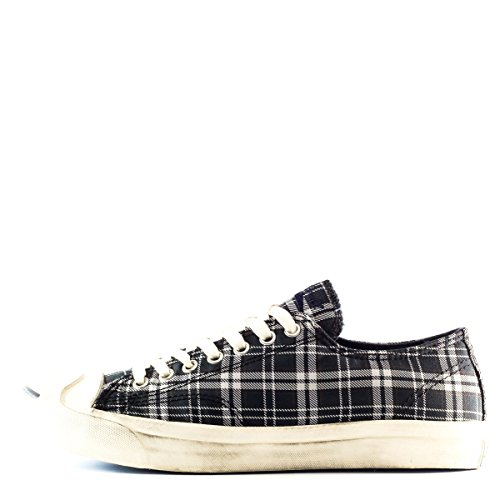 Converse Jack Purcell LTT OX Shoes in Navy/Off White Plaid, UK: 7 UK, Navy/Off White