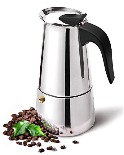 DclobDop Stovetop Espresso Maker with Classic and Rich Brews Moka Pot 6 Cup, Cuban Coffee Maker Stove top Espresso Shot Maker for Espresso italian coffee maker