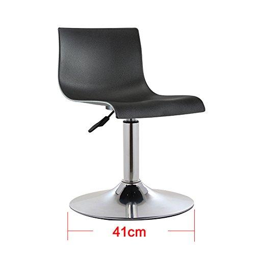 Tabouret haut simple moderne à la maison, chaise haute de barre européenne, chaise d'ascenseur de dossier, tabouret de bar ( Couleur : Noir , taille : 41*(60-76) cm )