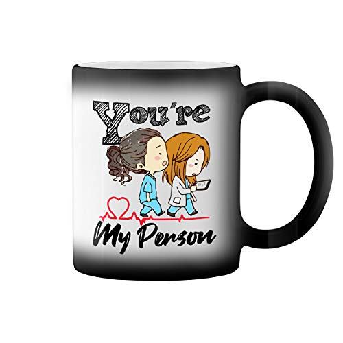 Grey's Anatomy You Are My Person Taza de café negro mágico Mug