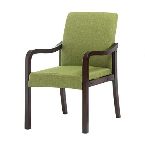 Stoel, thuis van massief hout met rugleuning leuning moderne eetkamerstoel eenvoudige Scandinavische stoel studie lounge stoel hotel restaurant stoel A+ groen
