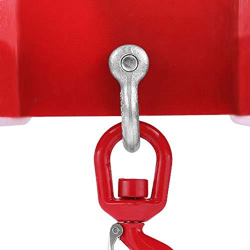 Mophorn Gabelstapler-Hebehaken 6000 Pfund Kapazität Gabelstapler Hebezeug Schwenkhaken Mobilkran Gabelstapler Anbaugeräte (3000 kg)