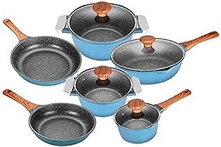 BESTSURE Nonstick stone Cookware set 10 PCS Non-Stick pots and pans set, Dishwasher Safe,Induction Compatible 100% PFOA Fr...