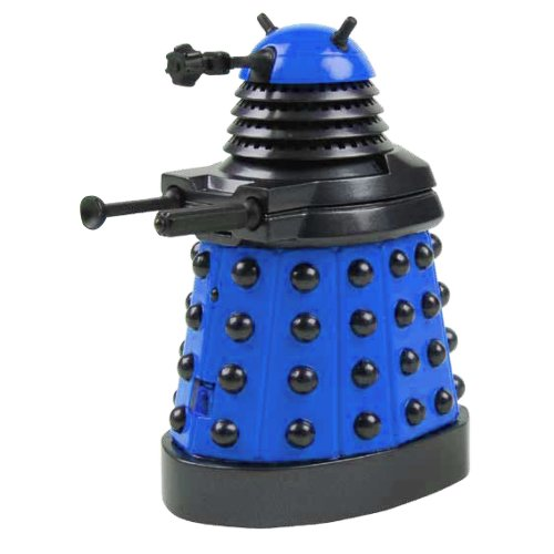 Underground Toys Doctor Who Dalek - Blue Desktop Patrol Figure with Motion Detectors and Sound Effects - 4' Tall