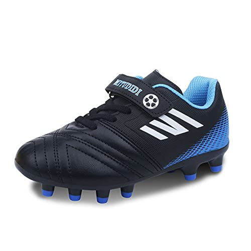 Kids Football Boots Boys Size 10 Football Athletics Shoes Outdoor Girls Indoor Breatheable Soccer Trainers Shoes Teenager Outdoor Sports Shoes Running Shoes for Unisex Black