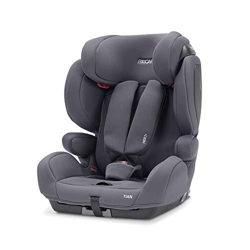 Recaro Kids, Kindersitz Tian, Autokindersitz (9-36 kg), Komfort und Sicherheit, Universaleinbau, Gruppe 1-2-3, Isofix-Verbindungen Gruppe 2-3 (optional), Verstellbar, Core Simply Grey