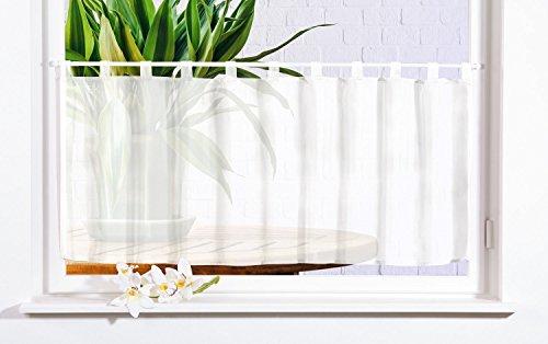 Gardinenbox Scheibengardine Uni Voile, 50x160, Weiß, 61070