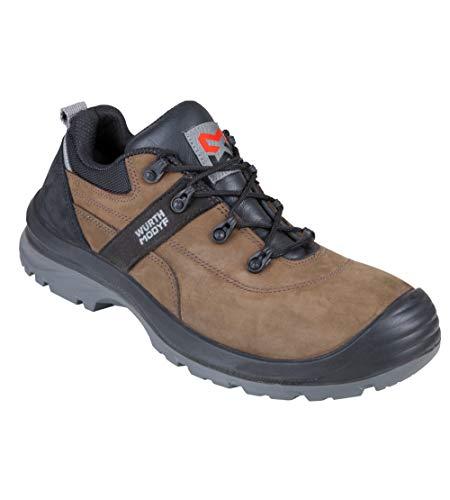 WÜRTH MODYF Sicherheitsschuhe S3 Corvus Nubuk braun: Der multifunktionale Schuh ist in Größe 41 erhältlich. Der zertifizierte Arbeitsschuh ist ideal für Lange Arbeitsalltage.