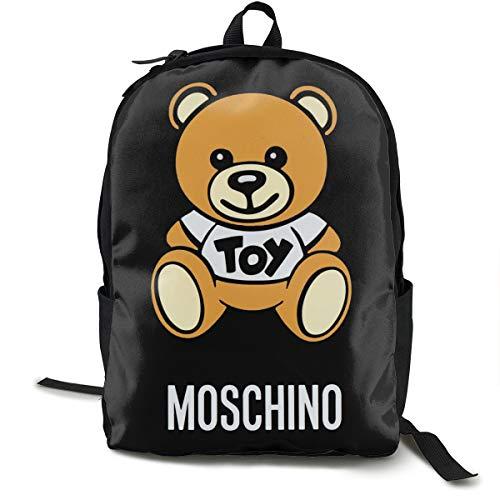 N / A Moschino Pacchetto classico zaino per la scuola nero borsa da viaggio viaggio per poliestere unisex scuola