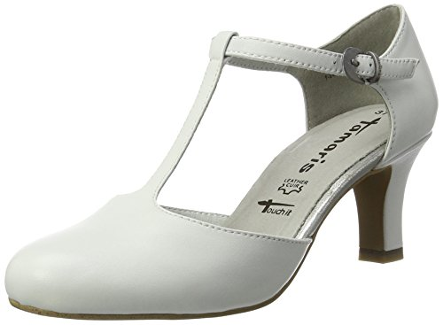 Tamaris Damen 24490 Pumps, Weiß (White 100), 40 EU
