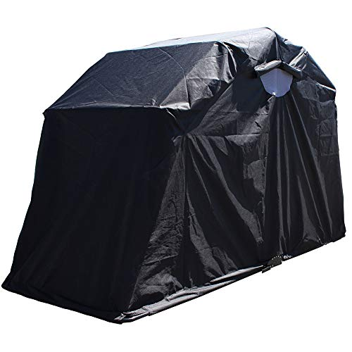 Byjia Large Motorbike Bike Shelter Cover, Outdoor Shed Garage Moped Motorcycle Storage, 270X105x157cm
