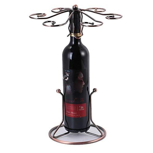 ZJZ Weinregale hängen Weinglashalter Desktop Becherregal mit 6 Haken Trockenregal Bar Sideboard Geeignet für Familienbars