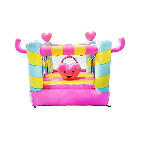 LGLE Casa inflable de la despedida, castillo animoso inflable interior y al aire libre de los niños del castillo del trampolín inflable de la diapositiva del patio para el hogar, 220x210x195cm,