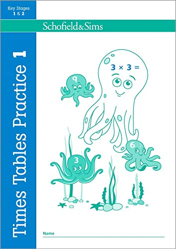 Times Tables Practice Book 1: KS1/KS2 Maths, Ages 5-8