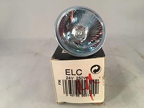 GE Quartzline Lamp ELC - Bombilla de proyector (24 V, 250 W)
