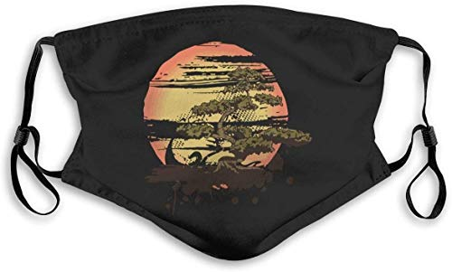 Cloth Face Mask Washable Bonsai Tree Anti Filter Dust Fabric Mouth Mask Reusable Printed