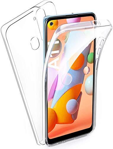 AROYI Funda Xiaomi Redmi 9C, Ultra Slim Doble Cara Carcasa Protector Transparente TPU Silicona + PC Dura Resistente Anti-Arañazos Protectora Case Cover para Xiaomi Redmi 9C
