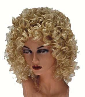 Perruque Petites Boucles Couleur - Blonde