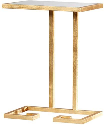 QTQZDD Bijzettafel, hoekbank, salontafel, nachtkastje, kleine salontafel, ijzer, bijzettafel, kleine tafel, 402555cm, theetafel (grootte: 402555cm) 1 1
