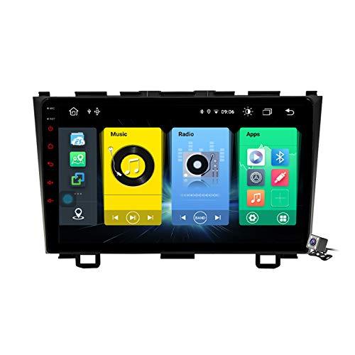 Buladala Android 9.1 9' Pantalla Táctil Completa Reproductor Multimedia para Honda CR-V 3 RE 2006-2012 Soporte GPS Navigation/FM RDS Stereo Radio/BT Hands-Free Calls/Control del Volante,7862: 6+128