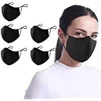 5-Pack Aonsen Reusable 2-Ply Face Masks with Ear Loops