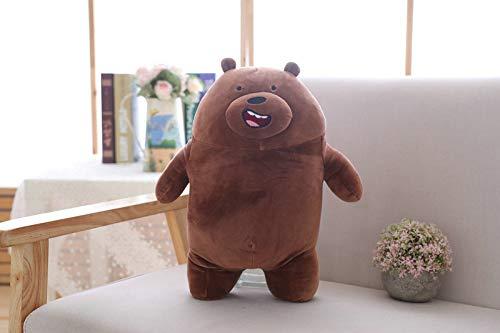 Mr Tree 30cm Kawaii We Bare Bears Plush Toy Cartoon Bear Stuffed Grizzly Gray White Bear Panda Doll Kids Love Birthday Gift (Brown)