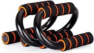 S Shape Fitness Push-up Bars (Orange/Black)