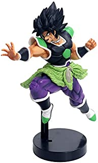 ToyStock Banpresto Dragon Ball Action Figures 2019 Dragon Ball Z Super Broly Movie Ver. Green Hair Vs Goku Broli Super Saiyan Combat Form PVC Action Figure DBZ Model 24cm