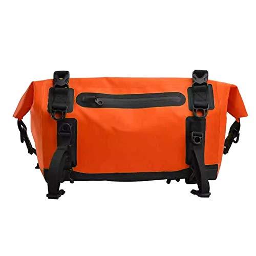 AIHOUSE Alforjas para Bicicletas Impermeable 15L Capacidad Bolsa de Bicicleta de Doble Propósito con Tiras Reflectantes para Ciclismo de Viaje Al Aire Libre,Naranja