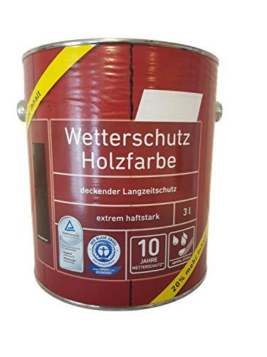 Genius Wetterschutz Holzfarbe Seidenmatt Farbwahl 3 Liter, Farbe:Moosgrün