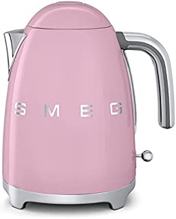 Smeg KLF01PKUS 50's Retro Style Aesthetic Electric Kettle, Pink