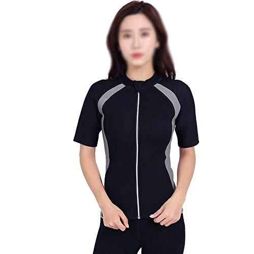 nologo Ropa de cremallera para mujer, ropa de sudor, forma de grasa, quema de yoga, deporte, fitness, ropa delgada