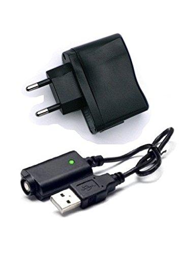 USB Lade Set, Stecker Netzteil - ego Ladekabel und USB Wandadapter für Ihre E-Zigarette, z.b. ego-T, eVod, ego-K, ego-W