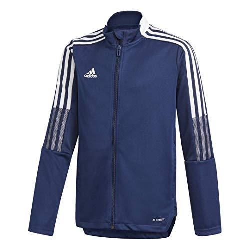 adidas unisex-child Tiro 21 Track Jacket Team Navy Blue Large