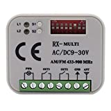 BKAUK 300-900MHZ AC 9-30V Receiver Suits BENINCA BERNER HORMANN MARANTEC SOMMER 868Mhz Remote Control 433Mhz