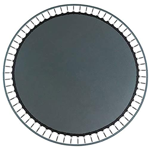 AAADRESSES Round Trampoline Replacement Jump Mat, UV Resistant Trampoline Jumping Mat Safety Replacement Trampoline Surround Pad, With Installation Tool,14FT (80 buttons)