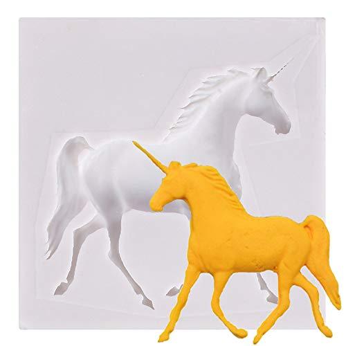 Molde de silicona 3D Pegasus, molde de silicona de unicornio molde de caballo molde de silicona para fondant moldes de fondant de chocolate y caramelo moldes de jabón moldes de arcilla moldes pasteles