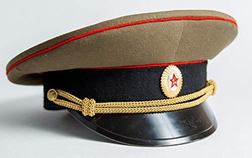 Gorra de vestir militar de la URSS para uniforme de vestir con visera del ejército nuevo oficial soviético tamaño 57 M original