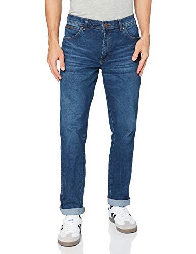 Wrangler Texas Taper Jeans, Antigelo, 36W / 32L Uomo