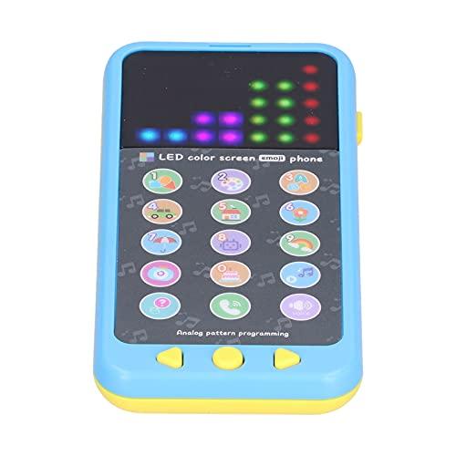 Teléfono para bebés Pantalla a color de juguete Educación temprana Música Teléfono para niños Juguete Idioma inglés 2.9 x 1.3 x 5.8in(Azul)