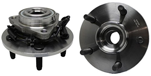 Detroit Axle 515126 New Front Driver & Passenger Side Complete Wheel Hub & Bearing Assembly for 2009 2010 2011 Dodge Ram 1500 With-ABS