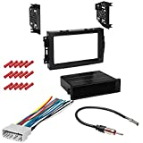 CACHÉ KIT882 Bundle with Car Stereo Installation Kit for 2007 – 2008 Jeep Compass – in Dash Mounting Kit, Harness, Antenna Adapter for Single or Double Din Radio Receivers (4 Item)