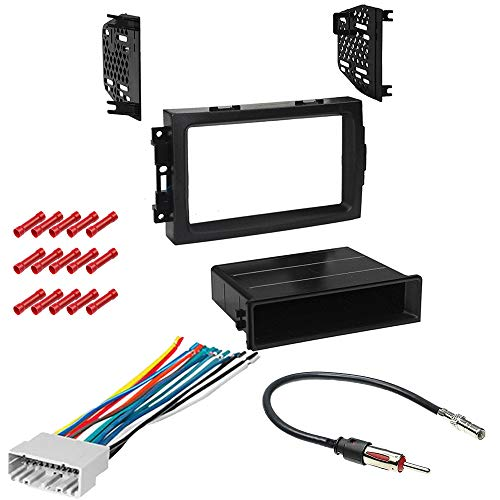 CACHÉ KIT879 Bundle with Car Stereo Installation Kit for 2005 – 2007 Dodge Magnum – in Dash Mounting Kit, Harness, Antenna Adapter for Single or Double Din Radio Receivers (4 Item)