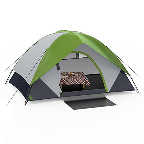 Ciays Camping Tent 2 Person Waterproof Family Tent with Removable Rainfly and Carry Bag Lightweight Tent with Stakes for Camping Traveling Backpacking Hiking Outdoors(Green) NF302