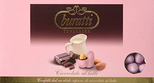 Buratti Confetti alla Mandorla Ricoperta di Cioccolato, Tenerezze Rosa - 1000 g