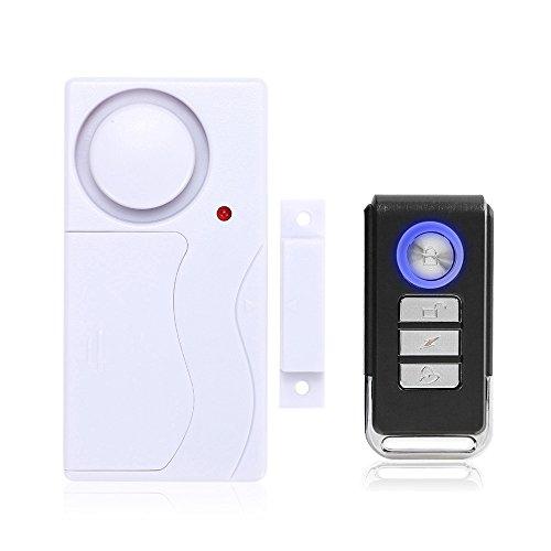 Mengshen Home Anti-Robo Puerta y Ventana Sensor de Movimiento magnetismo + vibración Dos en un Sistema de Alarma Anti-Robo de Seguridad con Control Remoto Detector de Movimiento MS-M65